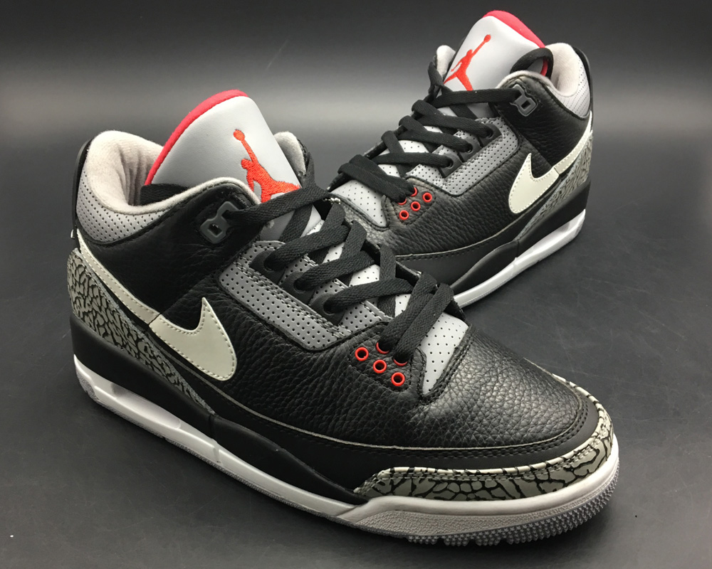 check out b196b 79c58 Top Deals BespokeIND s Custom Air Jordan 3 Retro Black Cement