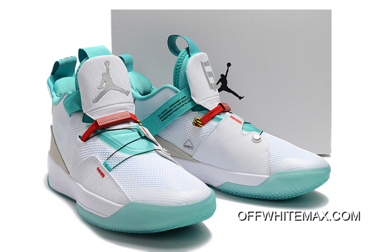 "9115b69a3d653f Top Deals Air Jordan 33 ""Guo Ailun"" PE White Jade-Red AQ8830-101 ..."