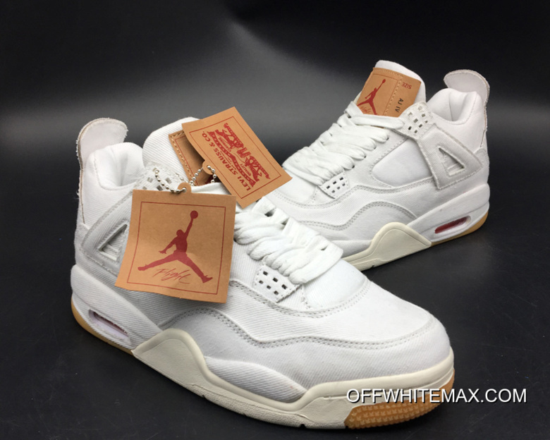 Copuon Levi s X Air Jordan 4 White Denim 9ca72fbfaf
