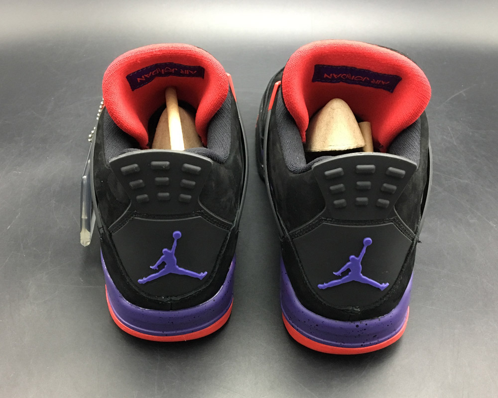 Air Jordan 4 NRG  Raptors  Black University Red-Court Purple For Sale 21a5558b6