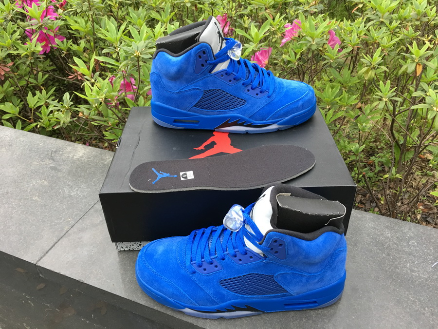 912f807a0faa0f New Air Jordan 5  Blue Suede  Game Royal Black Online