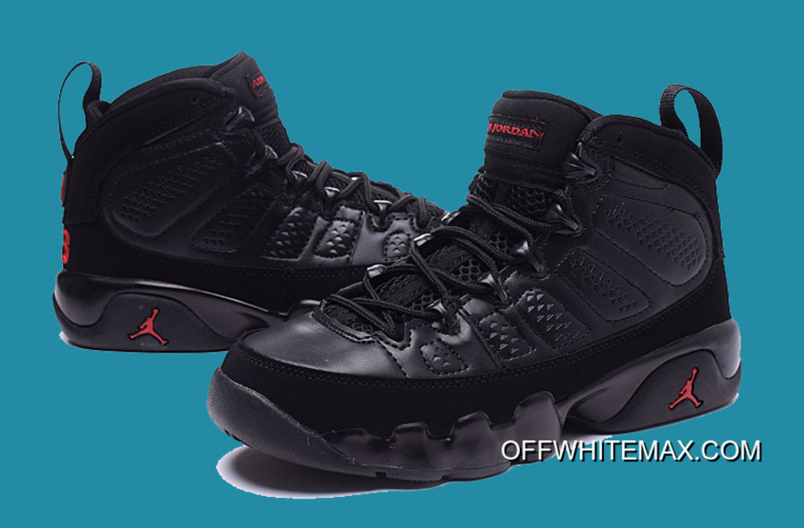 ad04f7a130e540 Air Jordan 9  Bred 2018  Black And Anthracite-University Red Best ...