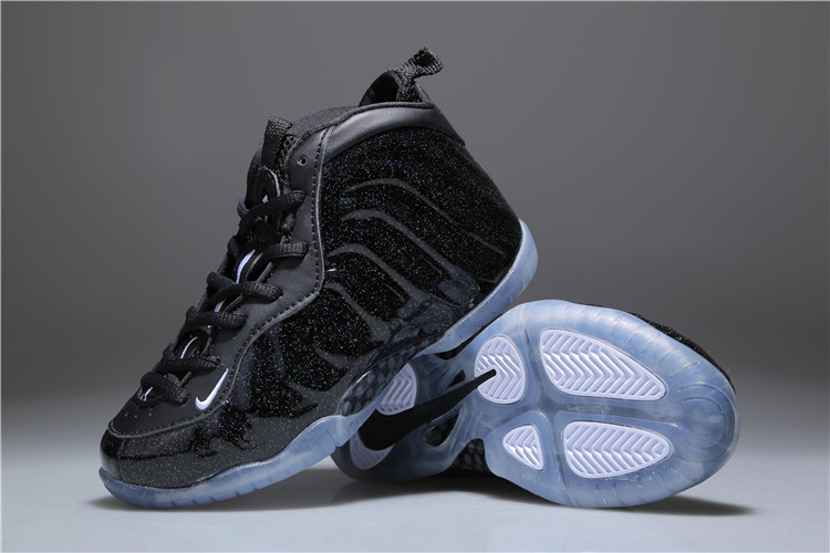 Nike Air Foamposite One  Stealth  Black For Kids New Release 69889c5c5