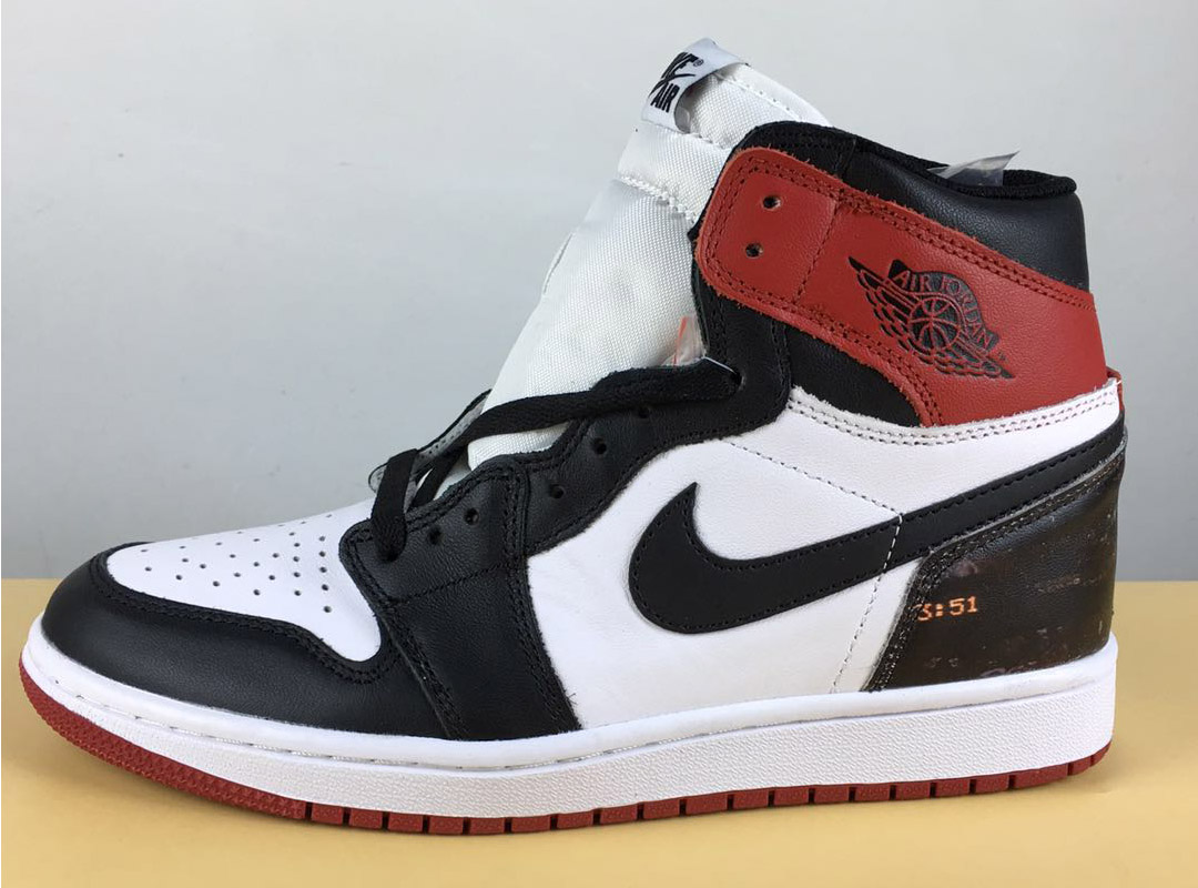 online store e15e3 82e20 Air Jordan 1 Custom  Black Toe  Black White-Varsity Red Top Deals