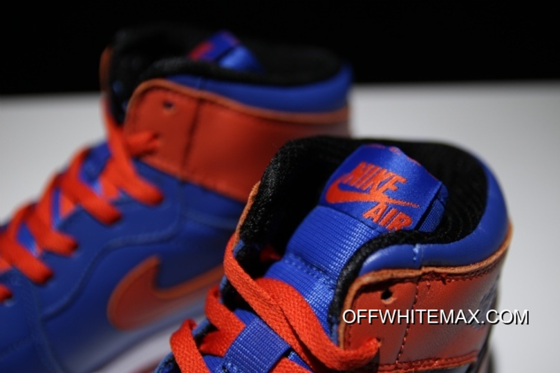 b1c5b758fbaa3f Discount Air Jordan 1 High OG  Knicks  Game Royal And Team Orange ...