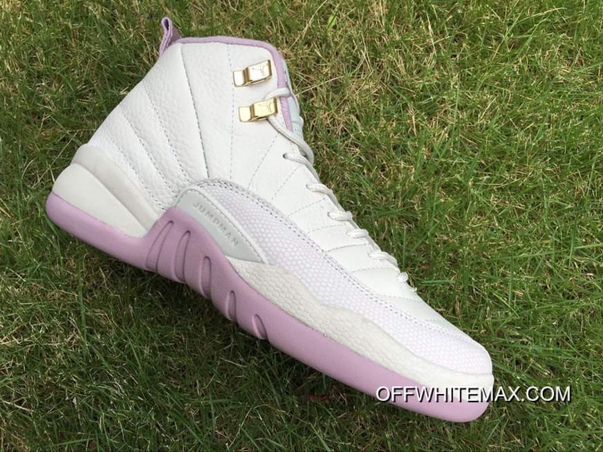 b08be0f6462a79 Free Shipping Air Jordan 12 GS Heiress  Plum Fog