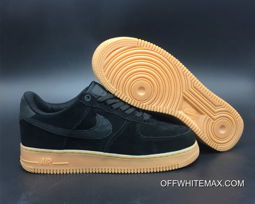 grossiste d2c27 ee690 Free Shipping Nike Air Force 1 '07 LV8 Suede Black Gum