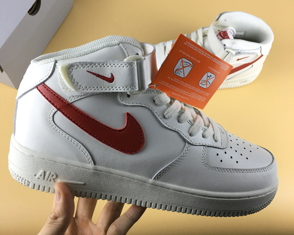 lowest price f95fc ba39f Latest Nike Air Force 1 Mid 07 Sail University Red