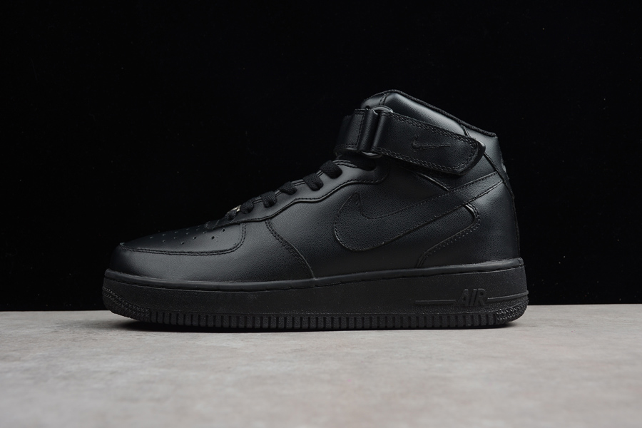Nike Air Force One Mid 07 Triple Black New Release Price 79 57