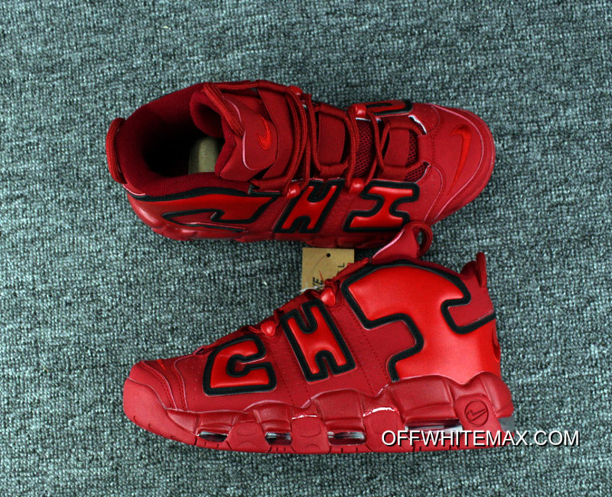 size 40 48eb9 d05d6 Super Deals Nike Air More Uptempo QS  Chicago  Black University Red-White