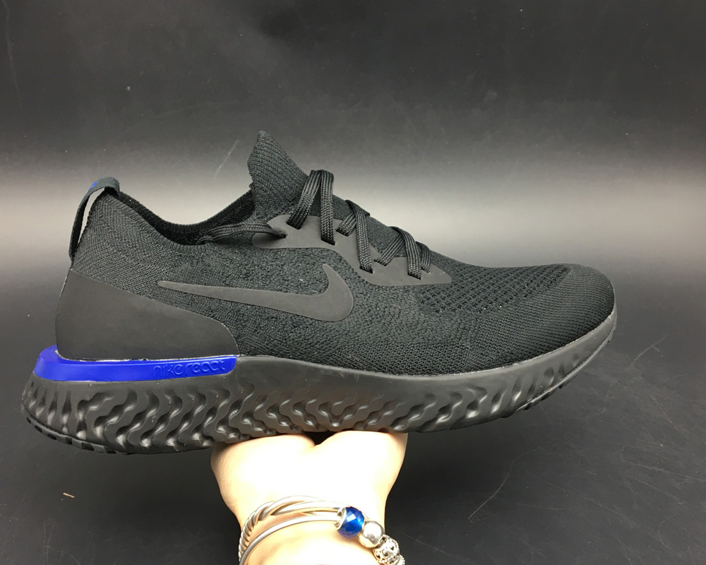 bce0ad8ab41b ... low price for sale nike epic react flyknit triple black black racer  blue black 5b684 704b3