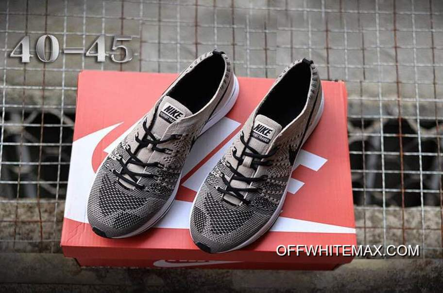 789a7f1f04b622 Nike Flyknit Trainer Pale Grey And Black-White New Year Deals