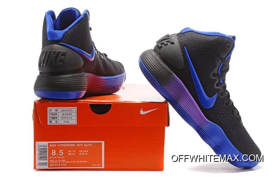 new product 64890 2a4fc coupon for nike hyperdunk 2017 black blue purple latest 6a197 ea213