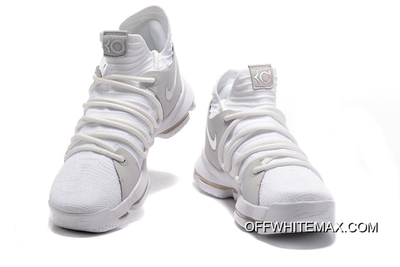 "the best attitude 04ef6 a39a8 Copuon Nike KD 10 ""Still KD"" White Chrome-Pure Platinum"