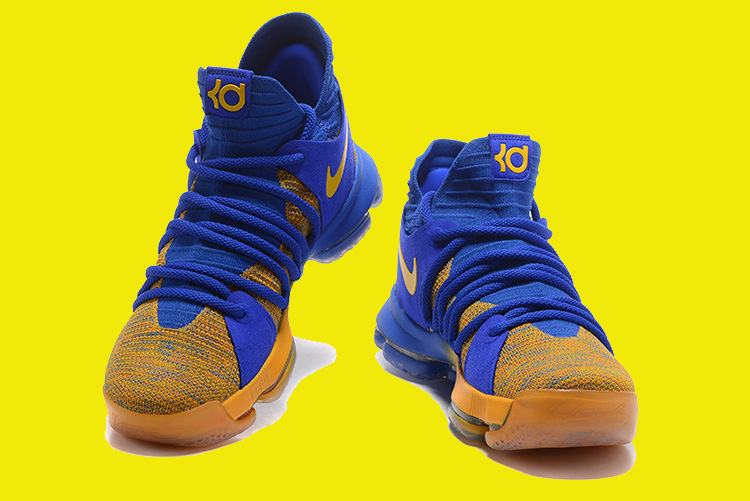 "new products f9189 fd6c7 For Sale Nike KD 10 ""Warriors Away"" Royal Blue Yellow"