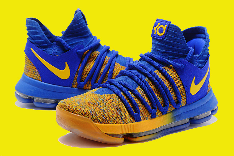 "new products 76e3d ac786 For Sale Nike KD 10 ""Warriors Away"" Royal Blue Yellow"