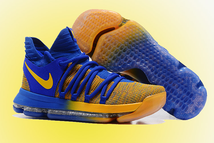 """new products 61abf 8f0b3 For Sale Nike KD 10 """"Warriors Away"""" Royal Blue Yellow"""