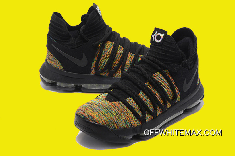 5b8171c456f8 New Year Deals Nike KD 10 Multicolor Black-Volt