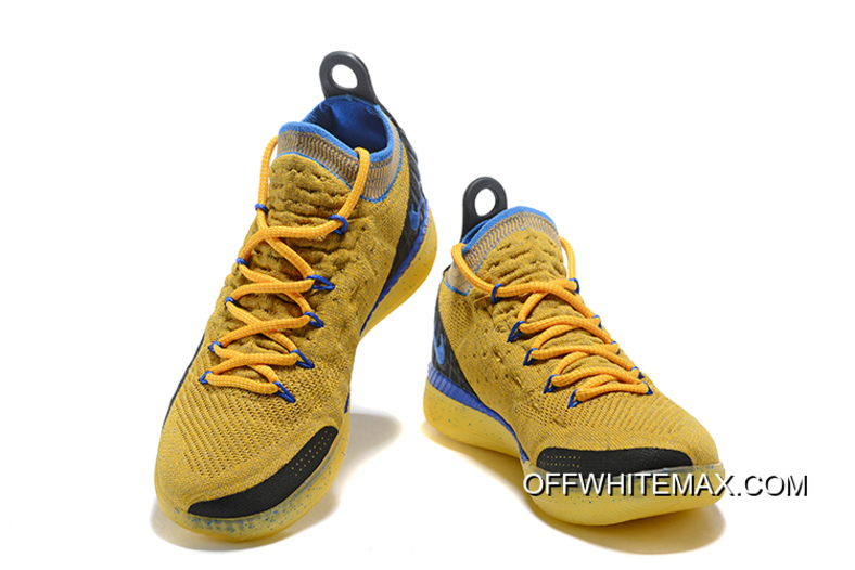 8a34817fa83 Buy Now Kevin Durant s Nike KD 11 Yellow Black-Blue Shoes Free Shipping