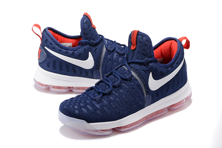 best sneakers e46a5 a10cf New Release Nike KD 9 PE Olympic USA Vs Nigeria Navy Blue And White-Red