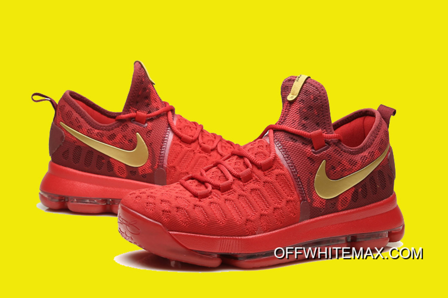 6fa31472fbf7 Nike KD 9 Varsity Red Gold New Style