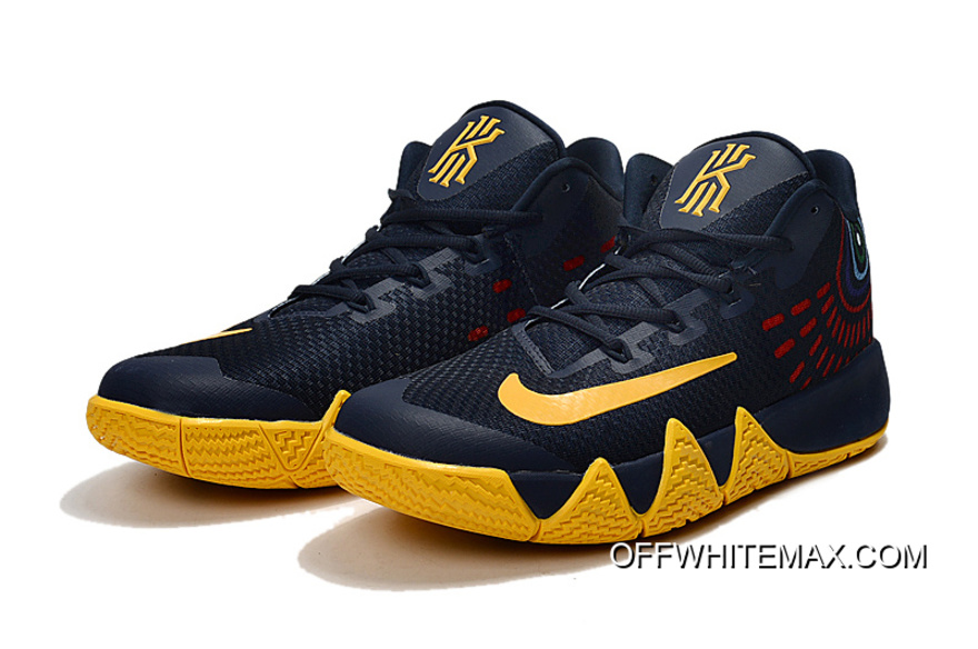 ee6ce5c7b568 New Year Deals Nike Kyrie 4 Deep Blue Yellow