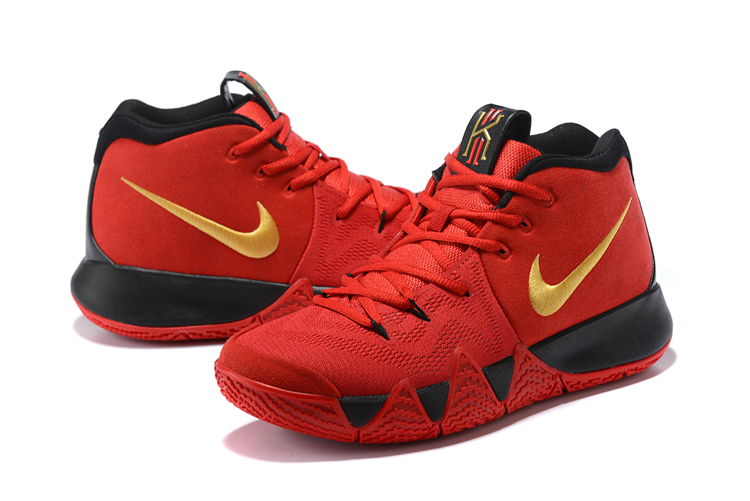 8d9a125daaf7 Outlet Nike Kyrie 4 Chinese Red Black And Gold