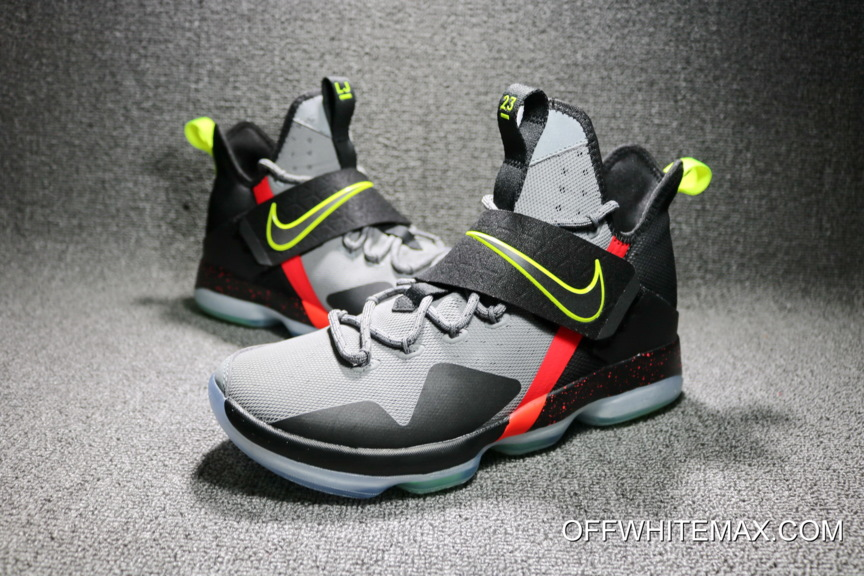 cf764e2870691 Nike LeBron 14  Out Of Nowhere  Wolf Grey  Black – Volt Bright ...