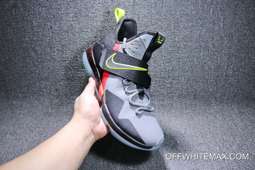 c01ef6816c0e Nike LeBron 14  Out Of Nowhere  Wolf Grey  Black – Volt Bright ...