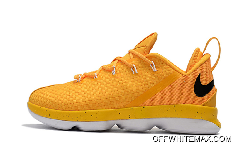 864a8e02bf4b Nike LeBron 14 Low Yellow White Copuon