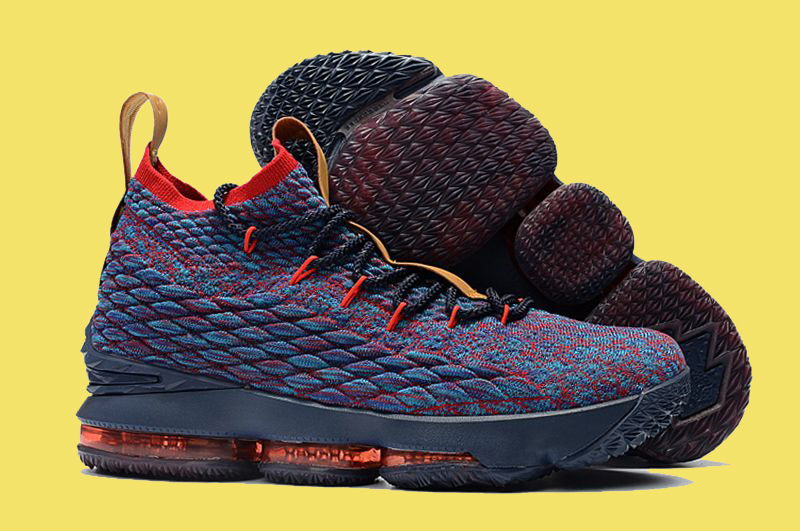 brand new 513fc 00ff9 New Style Nike LeBron 15  New Heights  Navy Blue And Wine Red