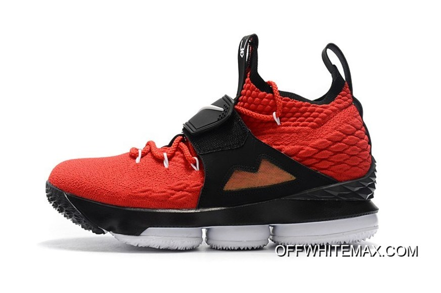 """477b34f0d3799 Nike LeBron 15 """"Diamond Turf"""" Black And White In Challenge Red Super Deals"""