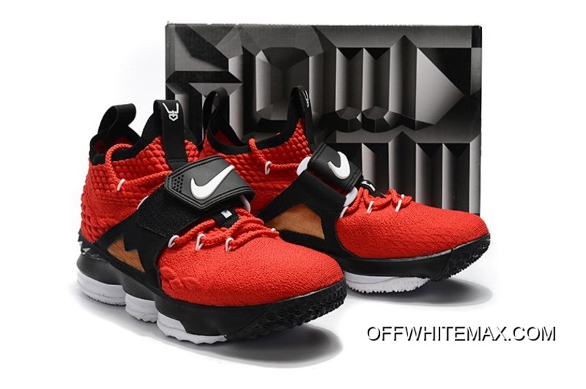 "3c8f0134c88 Nike LeBron 15 ""Diamond Turf"" Black And White In Challenge Red Super Deals"