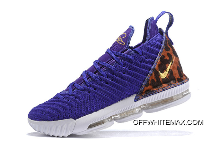 "d9e3ef87c4868 Nike LeBron 16 ""King Court Purple"" Court Purple/Metallic Gold AO2588-500"