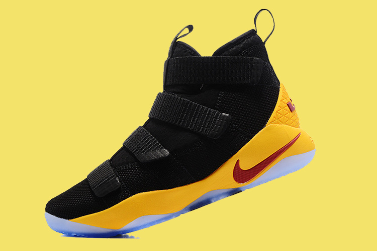 82537ef2497e Nike LeBron Soldier 11 Black Yellow And Wine Red Discount