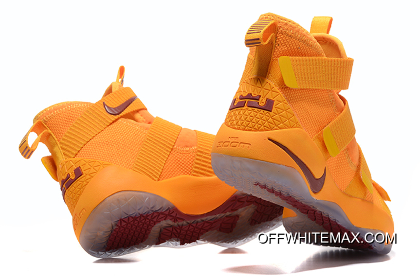 32d3eb84bfe31 Latest Nike LeBron Soldier 11 Yellow Wine Red, Price: $80.70 - OFF ...