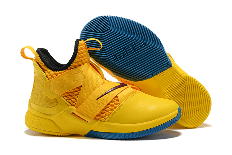 sports shoes b569b 935d3 New Year Deals Nike LeBron Soldier 12 'Cavs' Yellow Black