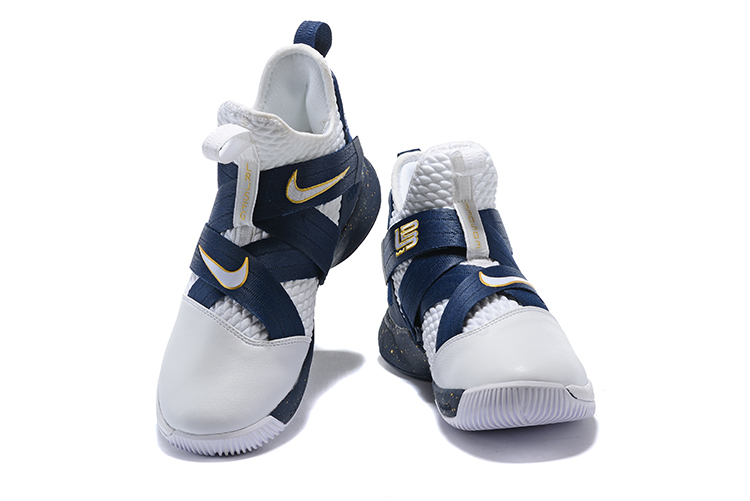 b3a419b03c05d Best Nike LeBron Soldier 12 White Midnight Navy-Mineral Yellow ...