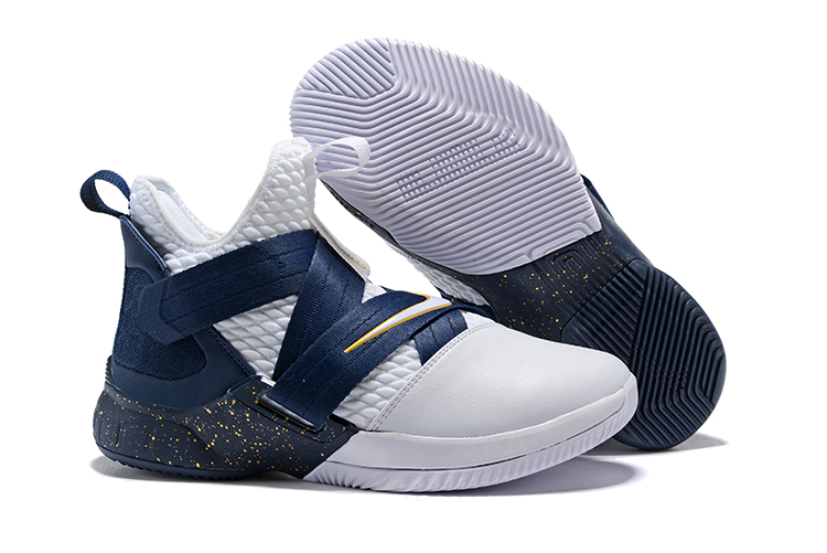 meet 2a014 05b8f Best Nike LeBron Soldier 12 White/Midnight Navy-Mineral Yellow