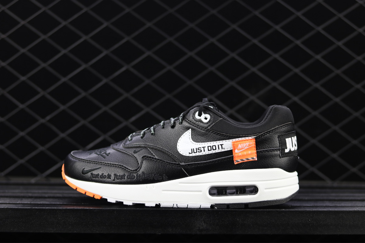 best authentic 0aa67 9db48 Nike Air Max 1 Low 'Just Do It' Black And White New Release