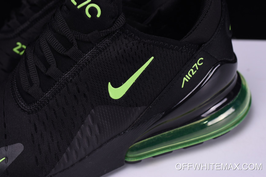 95fd4a76ac Nike Air Max 270 Black And Neon Green Free Shipping, Price: $87.93 ...
