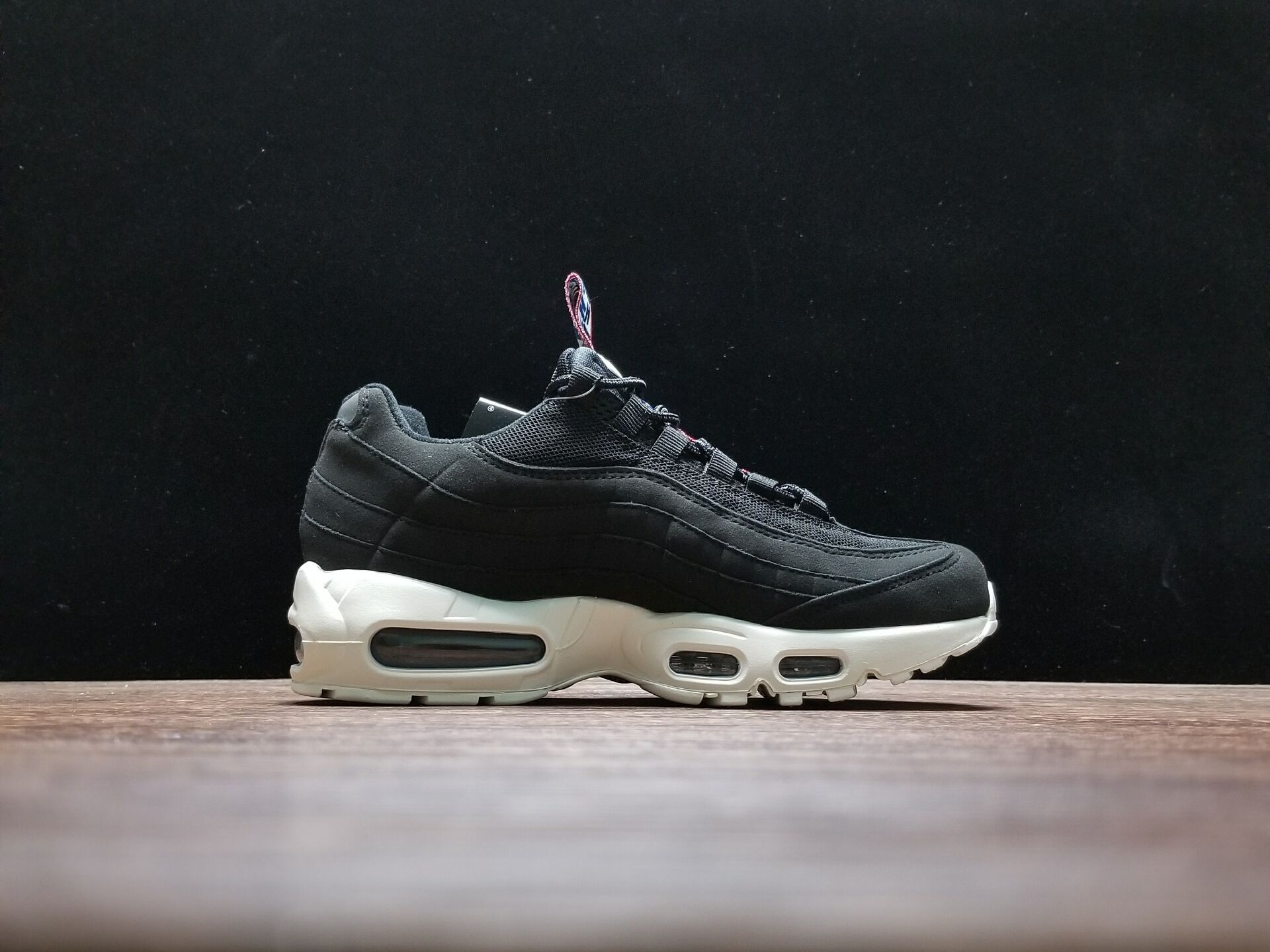 b3702513cf Nike Air Max 95 'Pull Tab' Black/Sail-Gym Red For Sale, Price ...
