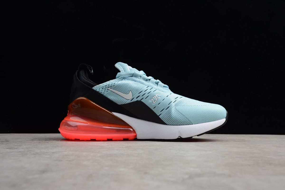 Discount Nike Air Max 270 Ocean Bliss And Black Hot Punch