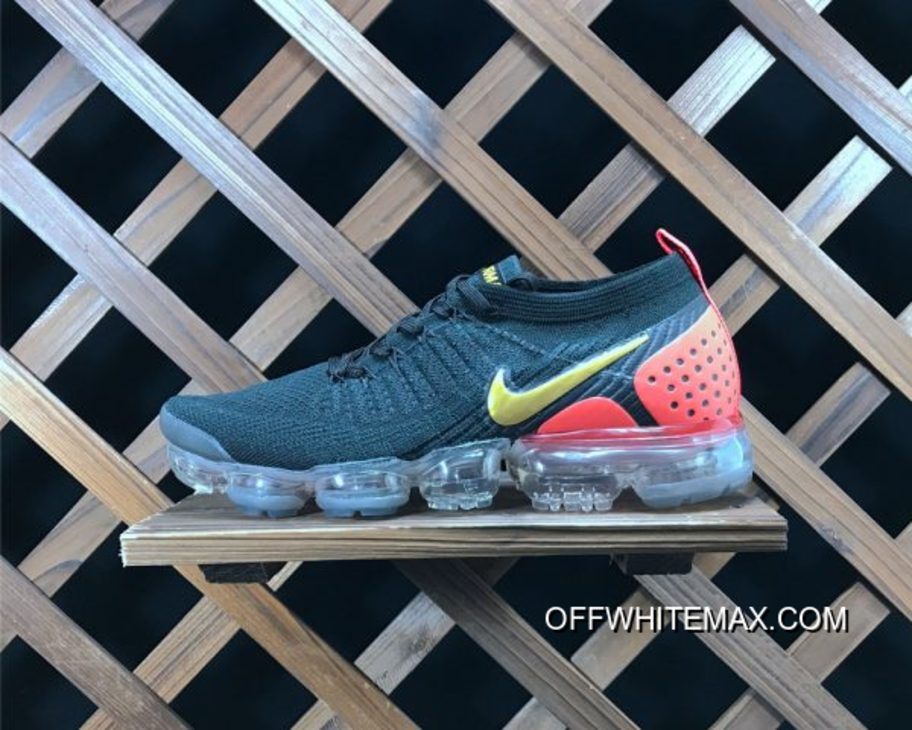 4b27de86ad00 Nike Air VaporMax Flyknit 2.0 Black Red Yellow Top Deals