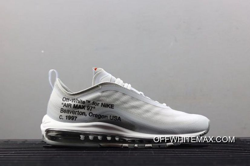Copuon Men OFF WHITE X Nike Air Max 97 Menta Running Shoe