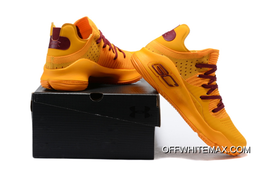 d35bc6937f83a Under Armour Curry 4 Low Orange Wine Red Top Deals, Price: $87.87 ...