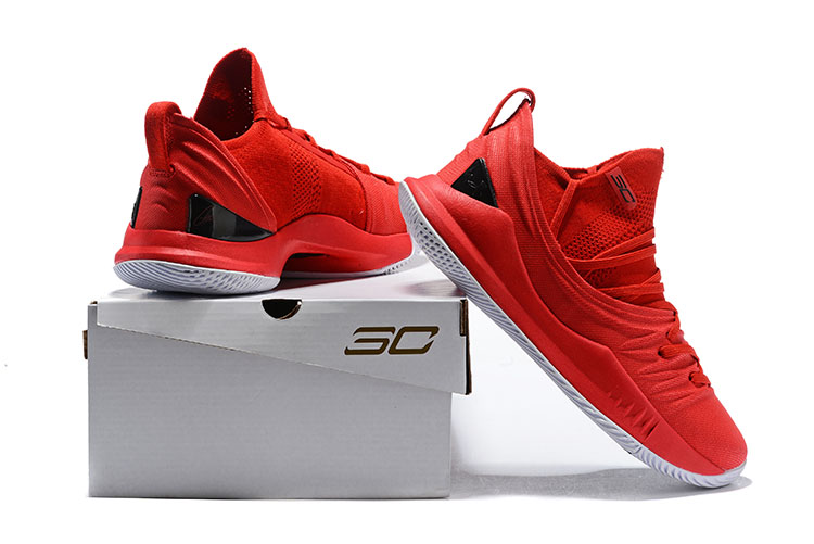 c9e9c2e53ef8 Under Armour Curry 5 Red Black New Release